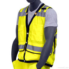 Construction High Visibility Clothing Majestic High Visibility Surveyors Vest Ansi 2 75 3222 Sizes