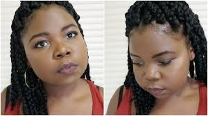 how to short box braids tutorial protective styles youtube