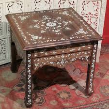 Oriental Sofa Table by Oriental Side Table Made Of Walnut Wood And Inlaid Mother Of Pearl