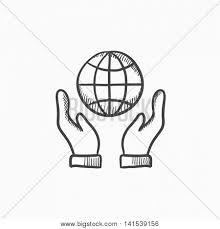 two hands holding globe vector vector u0026 photo bigstock