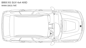 plan view bmw x5 suv 4x4 4wd top view block in vehicles cars autocad free