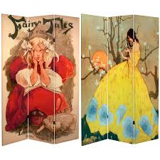 Room Dividers For Kids - 6 ft tall fairy tale canvas room divider roomdividers com