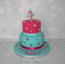 pink u0026 jade 2 tier birthday cake