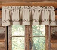 rustic curtains cabin window treatments lake house window