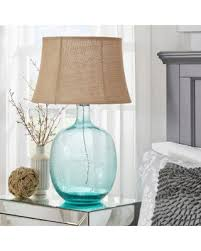 bargains on tribecca home catharine sea breeze glass table lamp
