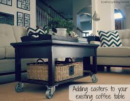 adding casters to your coffee table kimberlymungle