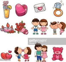 imagenes de amor con muñecos animados icono de elemento de amor dibujos animados premium clipart