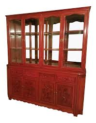 rosewood china cabinet for sale vintage used asian china and display cabinets chairish