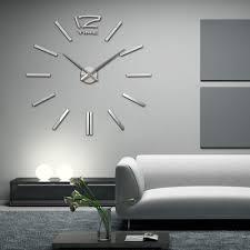 Large Mirrored Wall Clock Ergonomic Home Decor Wall Clock 70 Large Mirrored Wall Clocks Home