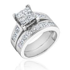 diamond wedding ring sets for diamond bridal set 3ctw item 18929926 reeds jewelers