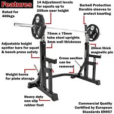 barbarian squat rack bb vp 9036 heavy duty safe sam u0027s fitness