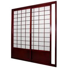 room divider doors oriental furniture 7 ft zen shoji sliding door kit hayneedle