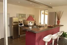 cuisine ouverte sur salle à manger decoration cuisine salle manger galerie et aménagement cuisine