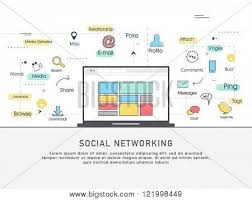 Network Infrastructure Design Template one page web design template line vector photo bigstock