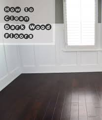how to clean dark wood floors