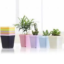 plante verte bureau 10 pcs mini carré en plastique plante pot de fleur bureau à domicile