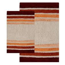 red glass tiles kitchen backsplash panel kitchen backsplash 2 piece tuxedo stripe bath rug set walmart com