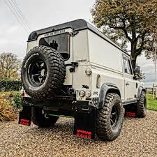 white land rover defender uproar 4x4 land rover defender extended mudflaps