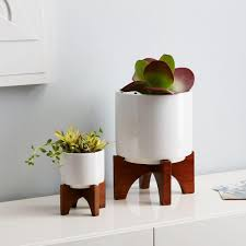 turned wood leg tabletop planters kitchen ideas pinterest