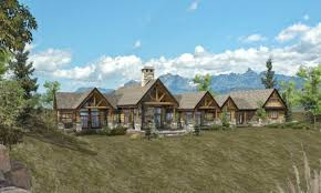 floor ranch style log home floor plans