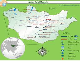 best tourist map of mongolia travel map mongolia tourist map mongolia highlights