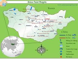 travel maps images Mongolia travel map mongolia tourist map mongolia highlights jpg