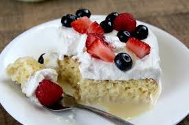 tres leches cake with berries love to be in the kitchen