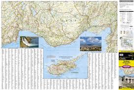 Map Mediterranean Turkey Mediterranean Coast National Geographic Adventure Map