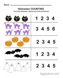 halloween counting preschool worksheet math fun pre