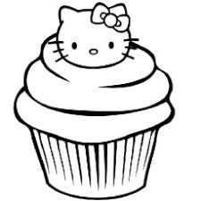 25 free printable cupcake coloring pages