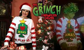 grinch christmas sweater diy the grinch cheermeister sweater lucykiins
