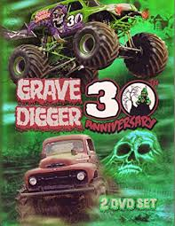 grave digger monster truck merchandise amazon com grave digger 30th anniversary 2 dvd set dennis anderson