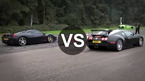 bugatti vs bugatti veyron vs 458 italia drag race draginfo