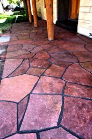 Flagstone Patio On Concrete by 806 Outdoors Masonry 806 Outdoors