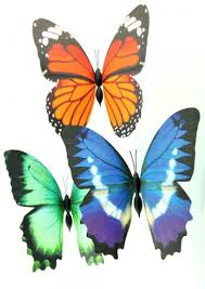 butterfly gifts 3d folding butterfly magnets gifts for cancer patients