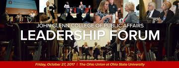 Ohio travel forum images John glenn college of public affairs leadership forum png