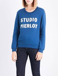 new claudie pierlot canard studio pierlot cotton blend sweatshirt