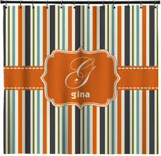 Orange And Blue Curtains Orange And Blue Striped Shower Curtain Shower Curtains Ideas