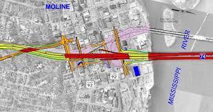 Moline Illinois Map Illinois Dot Prepares To Build Connection To New I 74 Bridge Wvik
