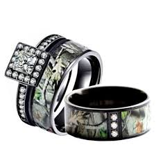 his and camo wedding rings 9 best camo rings images on camo rings rings