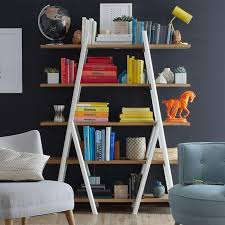 Bookshelf Entertainment Center Diy Leaning Ladder Bookcase U2014 Home And Space Decor