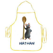 tablier de cuisine enfant personnalisé superbe tablier enfant prenom personnalise ratatouille neuf tabl002