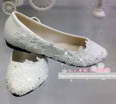 wedding shoes no heel aliexpress buy wedding shoes brides flat heel lace handmade