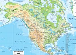 Map Of North America And South America With Countries by Physical Map Of North America Ezilon Maps