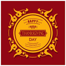 and yellow background for thanksgiving day vector free
