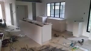 new kitchen installation in progress u2014 all about kitchens sunshine