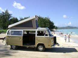 volkswagen camper pink oahu camping vans rent one and explore oahu u0027s coast in style