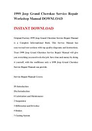 1999 jeep grand cherokee service repair workshop manual download
