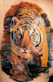 3d tiger ripping through skin tattoos design idea for and