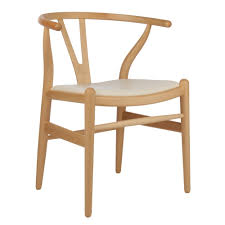 wishbone chair w upholstered seat wooden chairs chairs